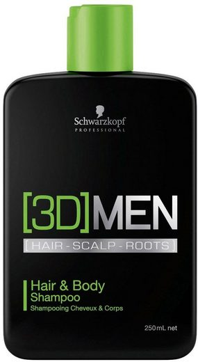 Schwarzkopf Professional Haarshampoo »[3D] Men Hair & Body Shampoo«, 1-tlg., 2 in 1