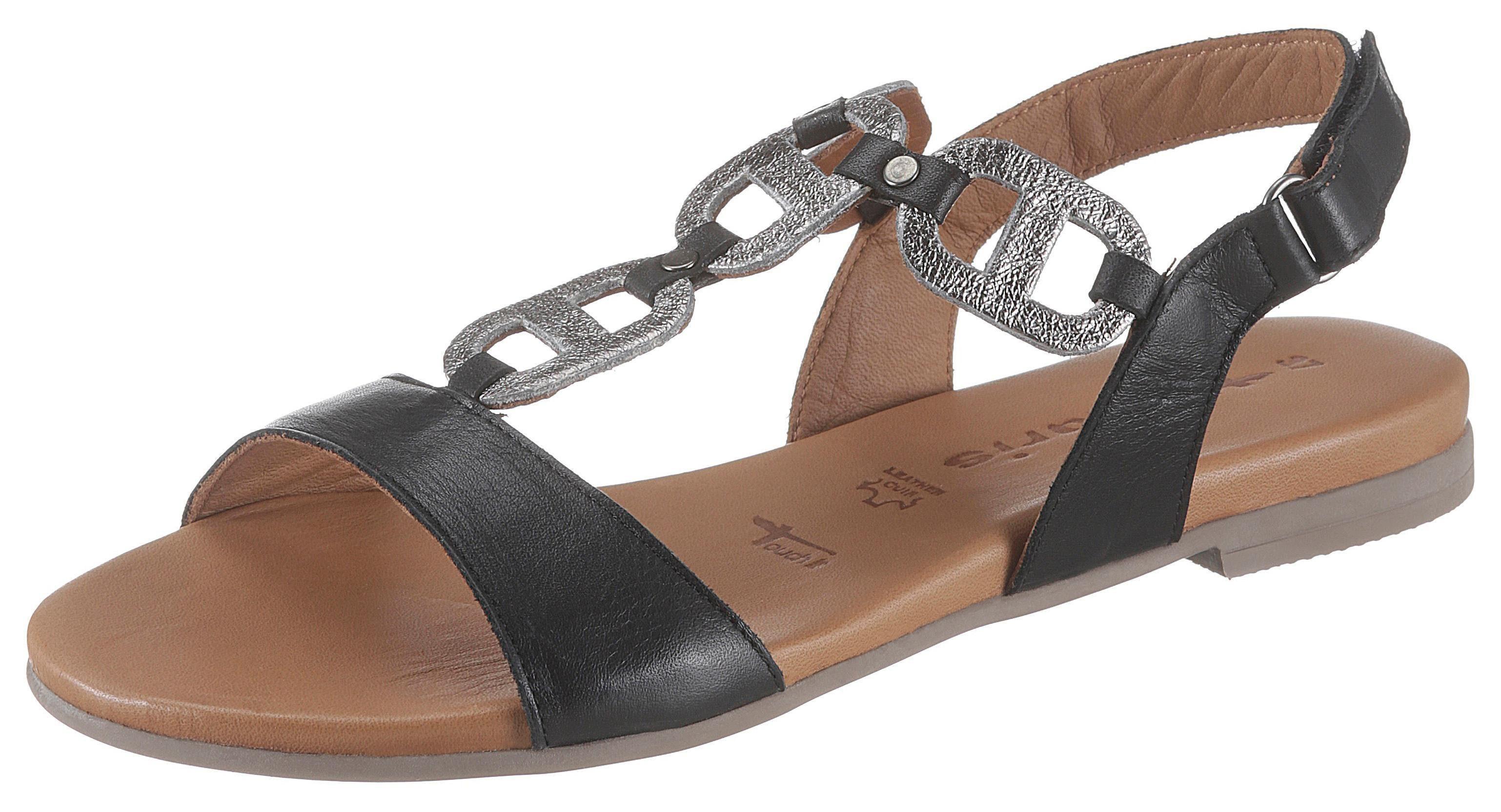 Tamaris »Kim« Sandale mit metallicfarbenen Einsätzen online