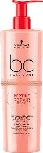 Schwarzkopf Professional Haarspülung »BC Bonacure Peptide Repair Rescue Micellar Cleansing Conditioner«, 1-tlg., Für dickes bis normales geschädigtes Haar