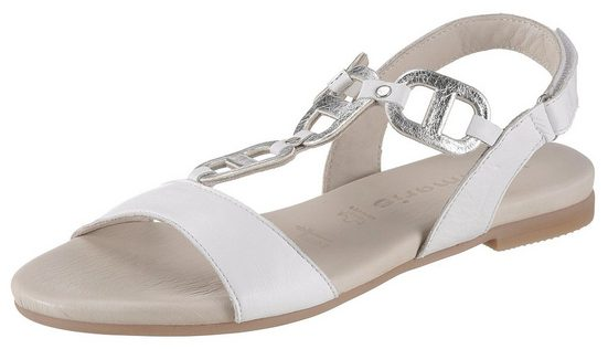 Tamaris »Kim« Sandale mit metallicfarbenen Einsätzen