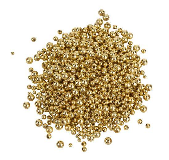 VBS Großhandelspackung Wachsperlen-Mix, gold, ca. 1000 St.
