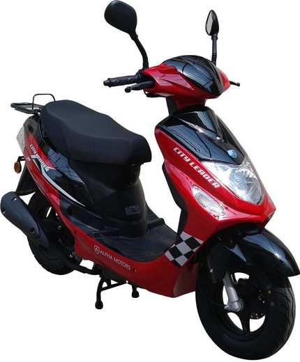 Alpha Motors Motorroller »CityLeader«, 50 ccm, 45 km/h, Euro 4, 50 ccm, 45 km/h, rot