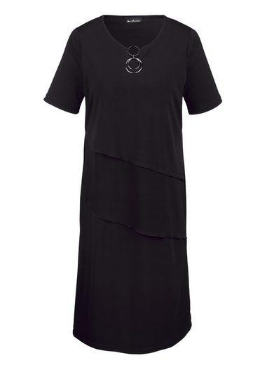 m. collection Kleid mit dekorativem Ausschnitt