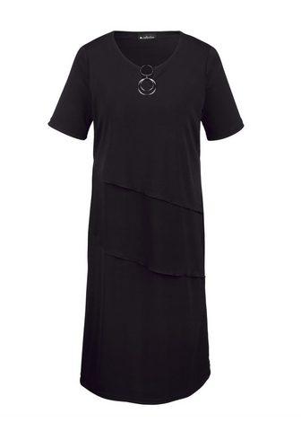 Платье с декоративный вырез