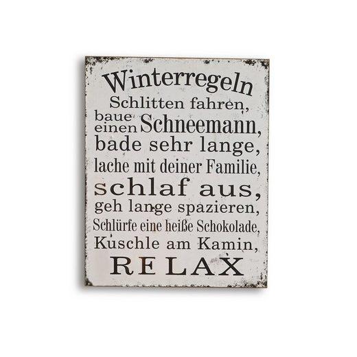 Mirabeau Dekoboard »Winterregeln«