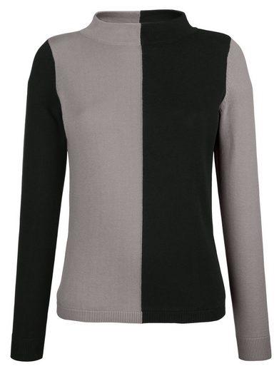 Alba Moda Pullover in modischem Colourblocking