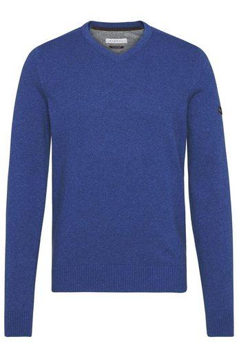 bugatti V-Ausschnitt-Pullover mit einem V-Ausschnitt