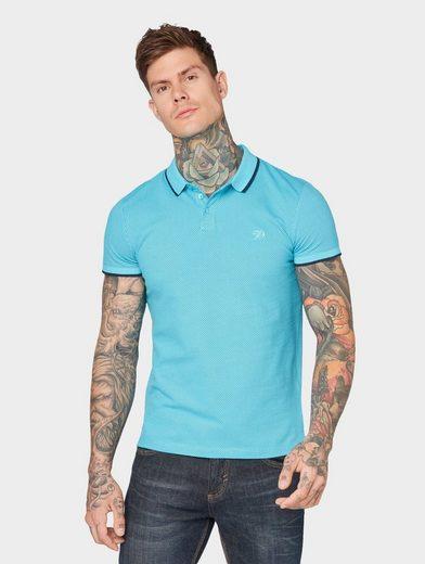 TOM TAILOR Denim Poloshirt »Poloshirt mit Allover-Print und Logo-Stickerei«