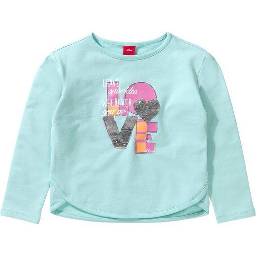 s.Oliver Baby Sweatshirt mit Wendepailletten für Mädchen REG