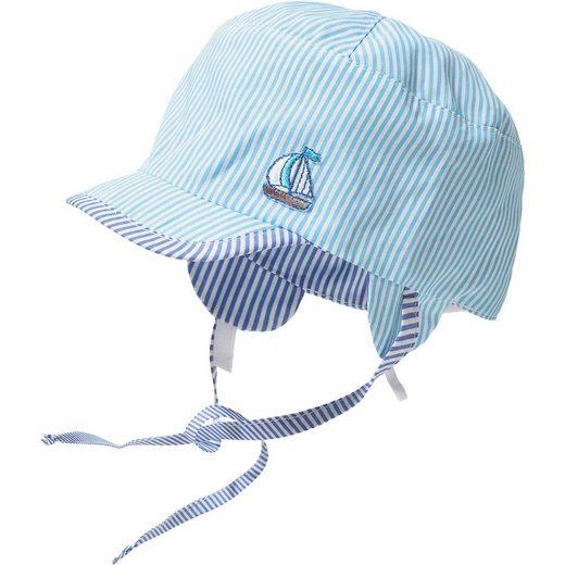 Sterntaler® Baby Wende-Schirmmütze zum Binden mit UV-Schutz 50+ für Jung