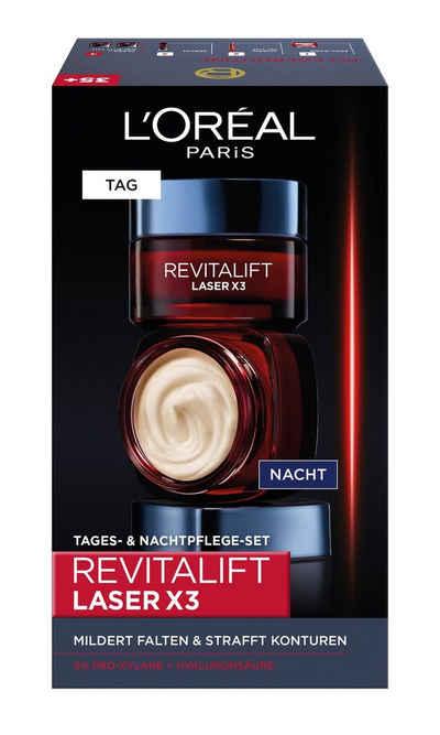 L'ORÉAL PARIS Gesichtspflege-Set »RevitaLift Laser X3 Tag und Nacht«, 2-tlg.