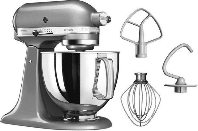 KitchenAid Küchenmaschine Artisan 5KSM125ECU, 300 W, 4,8 l Schüssel, Farbe Kontur-Silber