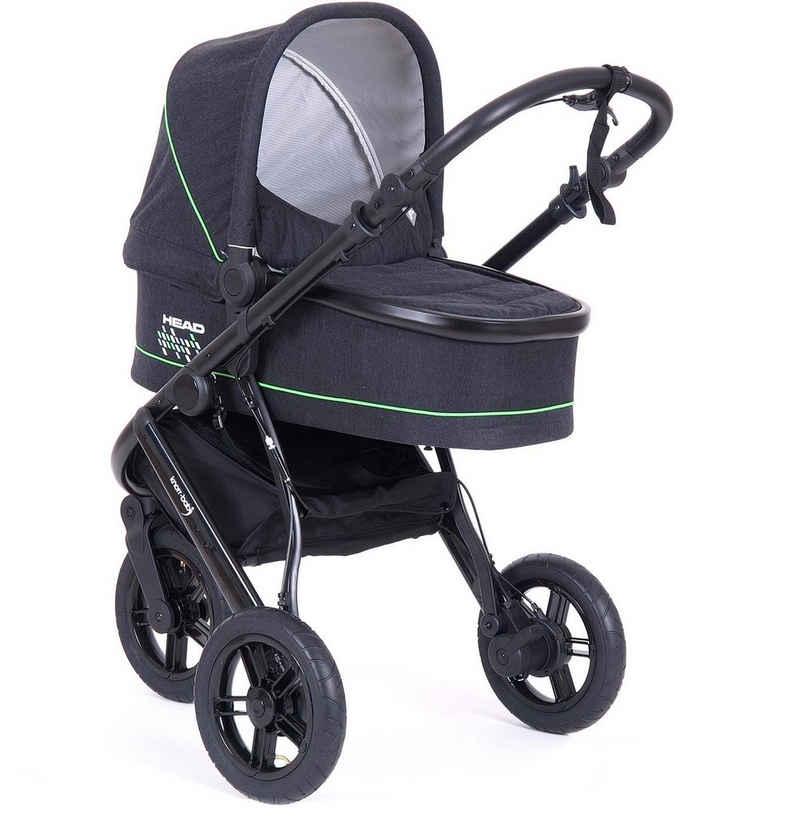 Knorrbaby Jogger-Kinderwagen »HeadSport 3, darkgrey-green«, Kinderwagen, Jogger, Dreiradwagen, Dreirad-Kinderwagen, Dreiradkinderwagen, Joggerkinderwagen