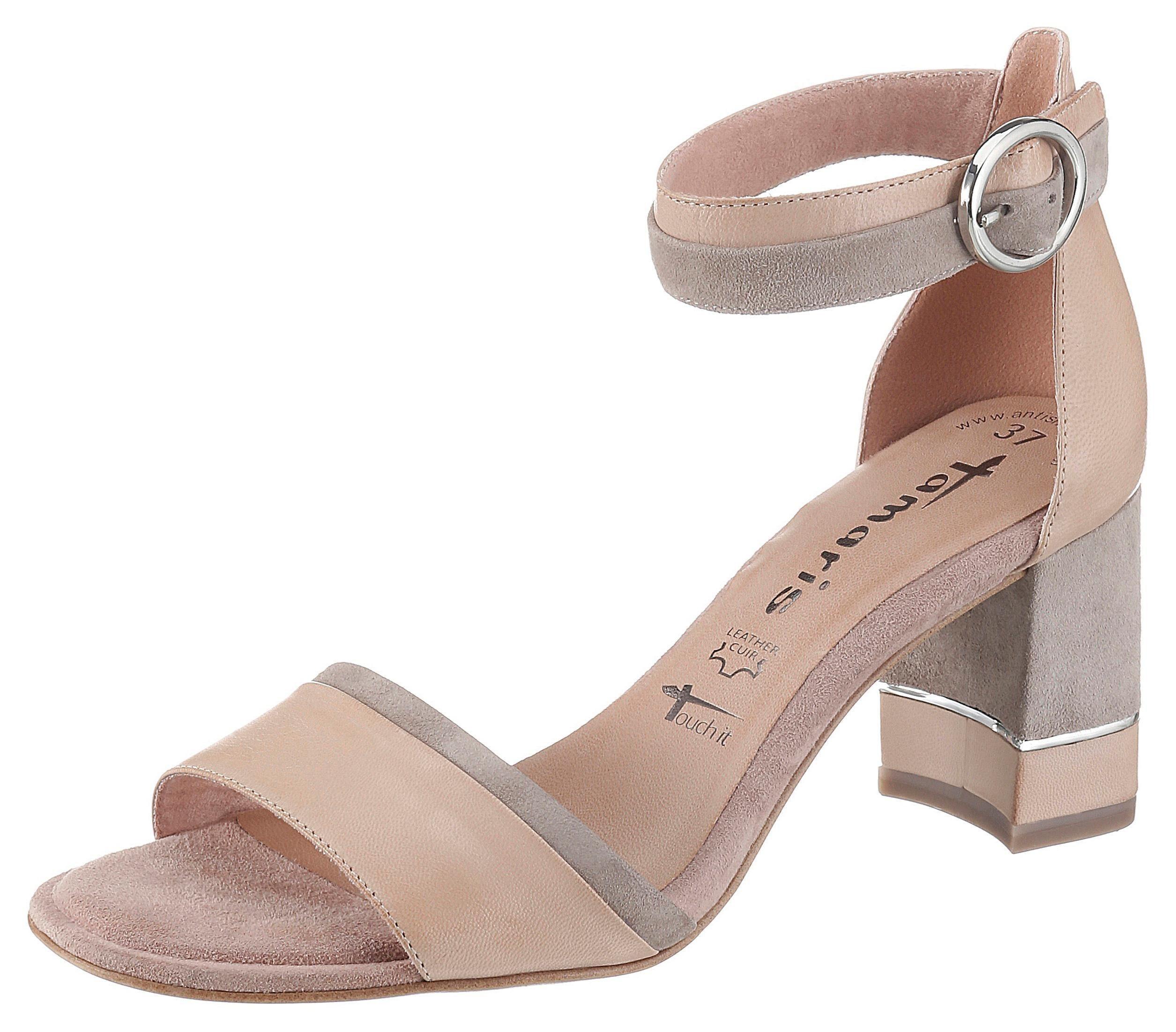 Tamaris »Dalina« Sandalette mit Metall Applikation am Absatz online kaufen | OTTO