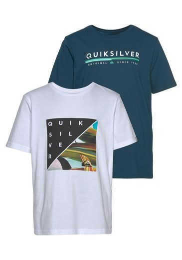Quiksilver T-Shirt »RETRO STAX FLAXTON PACK YOUTH« (2-tlg., 2er-Pack)