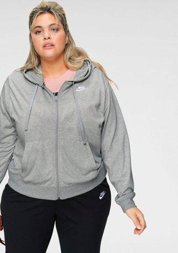 Nike Sportswear Kapuzensweatjacke »WOMEN HOODIE FULLZIP JERSEY NEW PLUS SIZE« In großen Größen