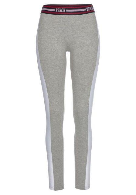 Hosen - Bench. Leggings mit Gummibund und breitem seitlichen Streifen › grau  - Onlineshop OTTO