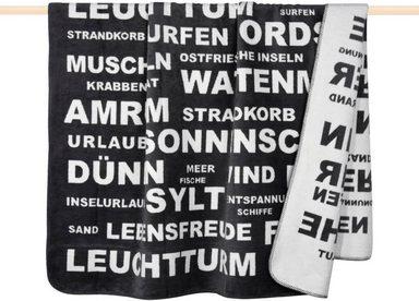 Wohndecke »Typo«, PAD, mit Schriftzügen