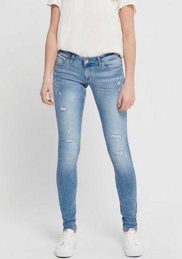 Only Skinny-fit-Jeans »ONLCORAL« mit Destroyed-Effekten