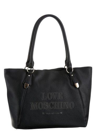 LOVE MOSCHINO Shopper, mit schöner Logo Prägung auf der Vorderseite