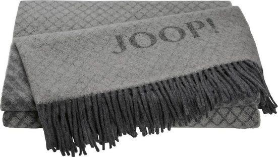 Plaid »Fine Diamond«, Joop!, mit dekorativem JOOP! Logo
