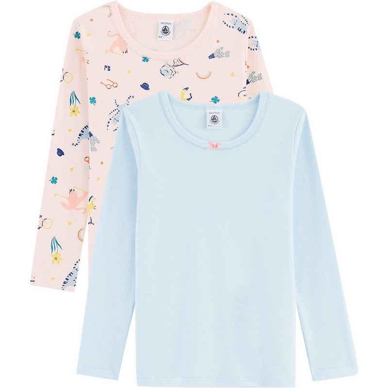 Petit Bateau Unterhemd »Unterhemden langärmlig Doppelpack für Mädchen«