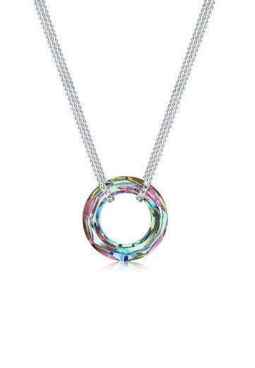 Elli Collierkettchen »Cosmic Circle Swarovski® Kristalle 925 Silber«
