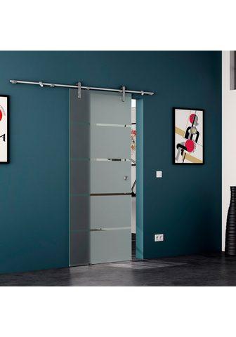 LEVIDOR Stiklinės stumdomos durys »4 Streifen«...