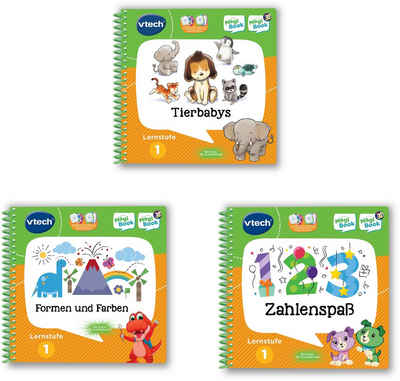 Vtech® Buch »MagiBook Lernstufe 1 - Tierbabys, Formen und Farben, Zahlenspaß«, 3-tl. Set