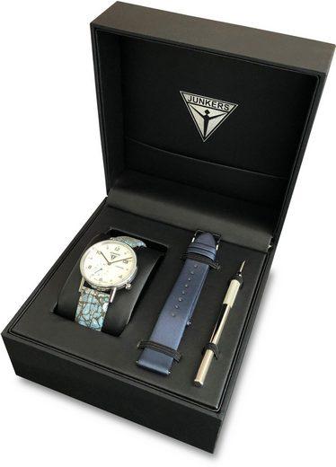 Junkers-Uhren Quarzuhr »Eisvogel Lady Set, 6731-3O«, (Set, 3-tlg)