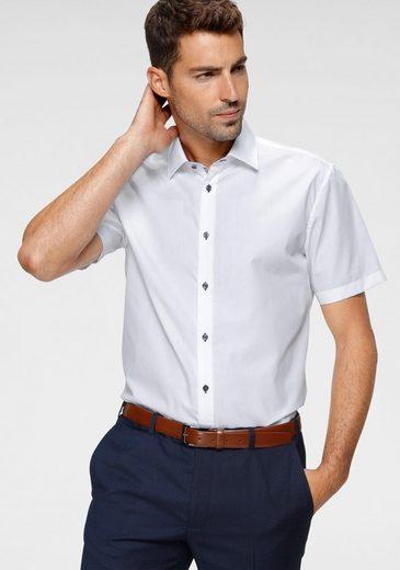 Class International Businesshemd Kurzarmhemd, auch mit kontrastfarbenen Knöpfen
