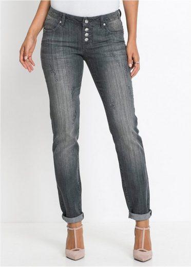 bonprix Straight-Jeans »mit seitlichen Eingrifftaschen«
