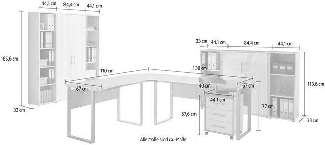 Büromöbel Sets - Büro Set »Tabor Office 5«, (Set, 10 tlg)  - Onlineshop OTTO