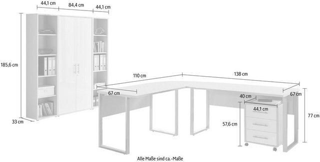 Büromöbel Sets - Büro Set »Tabor Office 3«, (Set, 6 tlg)  - Onlineshop OTTO