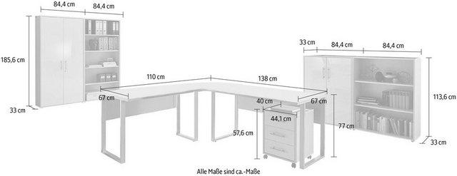 Büromöbel Sets - Büro Set »Tabor Office 1«, (Set, 8 tlg)  - Onlineshop OTTO