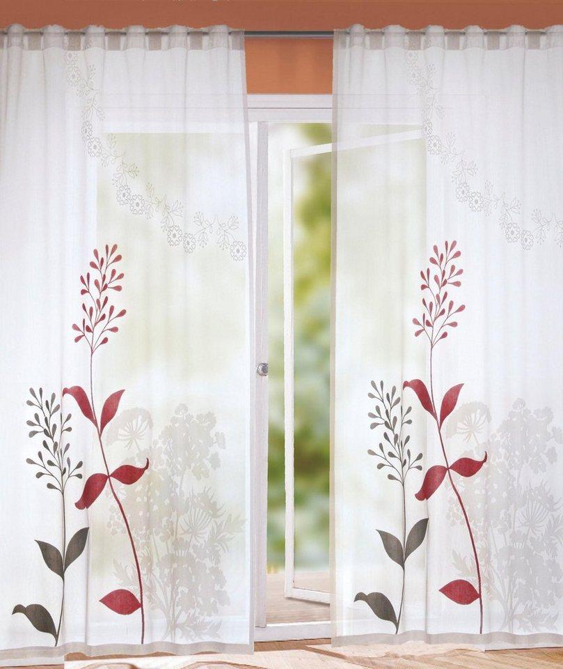 Vorhang »Hof«, WILLKOMMEN ZUHAUSE by ALBANI GROUP, verdeckte Schlaufen (1  Stück), Schal verdeckte Schlaufe online kaufen | OTTO