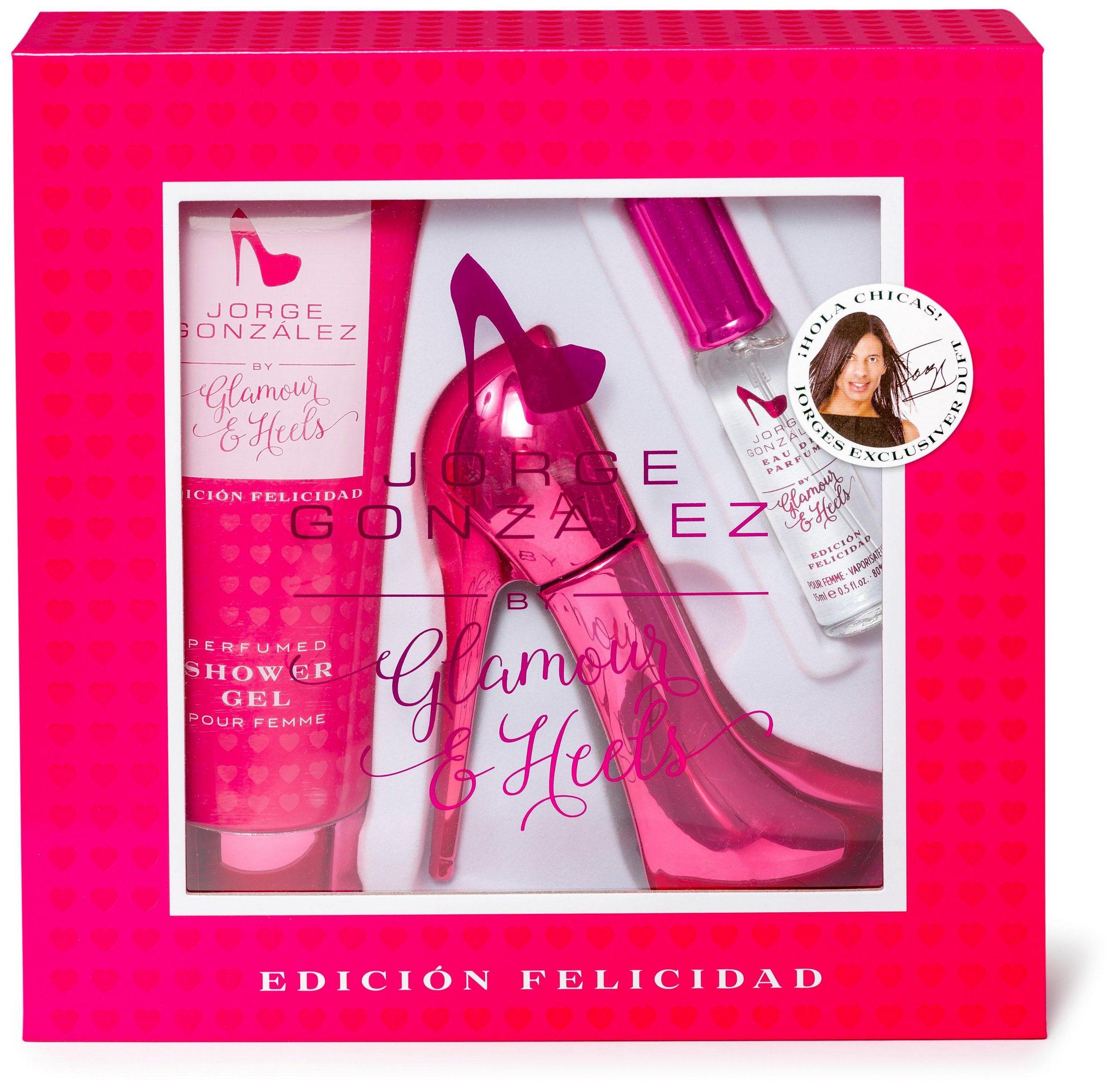 Glamour & Heels Duft-Set »JORGE GONZALEZ pink Felicidad«, 3-tlg