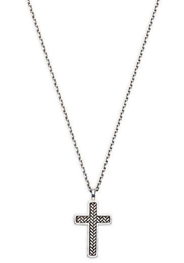 XENOX Kette mit Anhänger »Silver Men, Kreuz, XS9307«