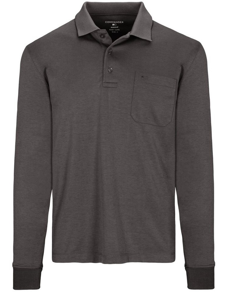 huge selection of 8ff54 fb088 COMMANDER Langarm-Poloshirt »Regular Fit« mit Brusttasche online kaufen |  OTTO