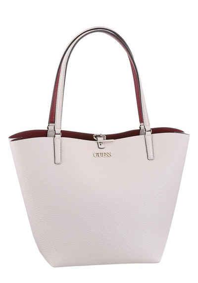 Guess Shopper »ALBY«, zum Wenden, mit herausnehmbarer Reißverschlusstasche