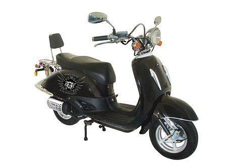 Mofaroller, Nova Motors, »Milano«, 50 ccm 25 km/h, schwarz in schwarz