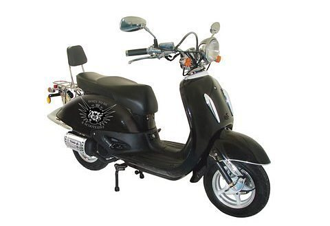 Motorroller, Nova Motors, »Milano 125 «, 125 ccm über 80 km/h, schwarz in schwarz