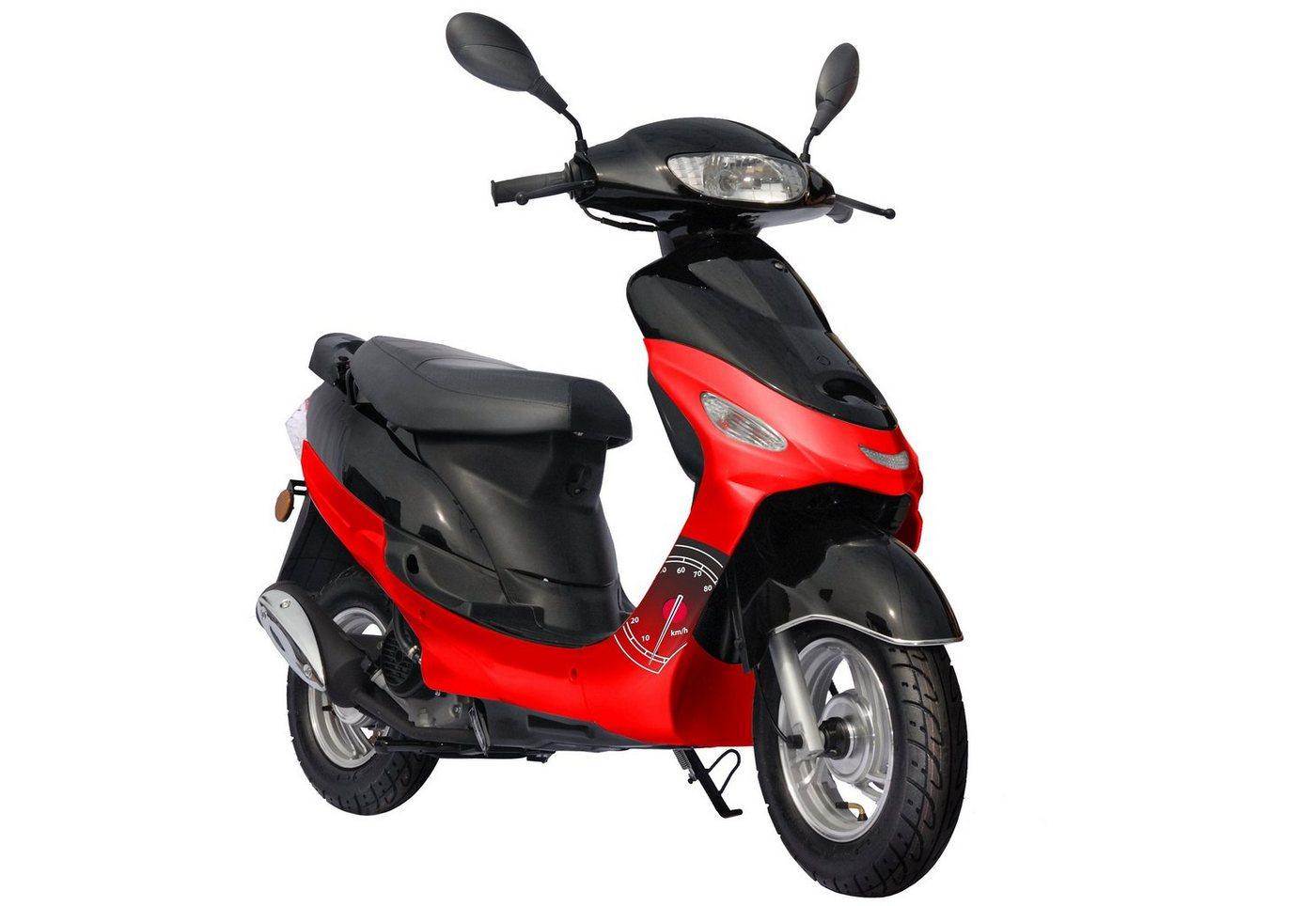 Nova Motors Mofaroller inkl. Spiegel, Nova Motors, »Eco Fox«, 50 ccm 25 km/h, silber-schwarz oder rot-schwarz