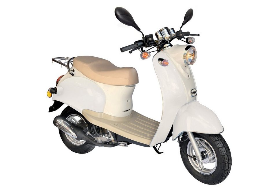 Retro-Mofaroller, Nova Motors, »Venezia II«, 49-ccm, 25 km/h in weiß