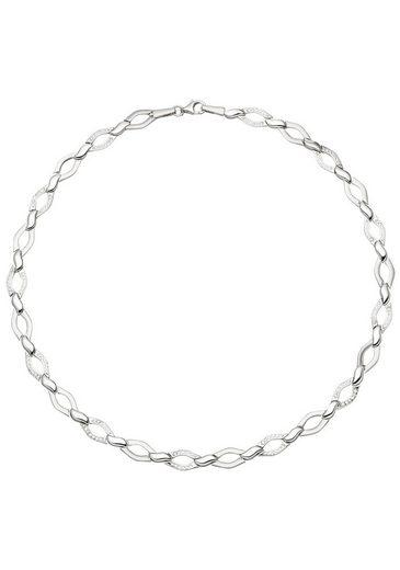 JOBO Collier, 925 Silber mit 144 Zirkonia 45 cm