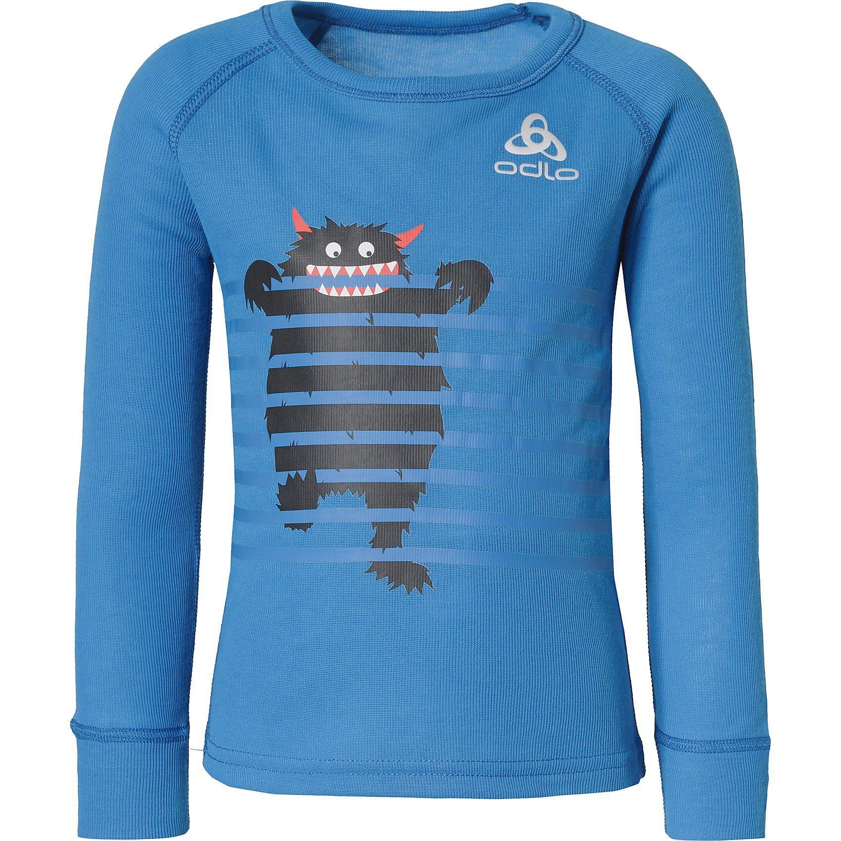 Baby,  Kinder,  Damen,  Mädchen,  Kinder Odlo Baby Funktionsshirt ACTIVE WARM für Mädchen blau   07613361243615, 07613361243622, 07613361498107