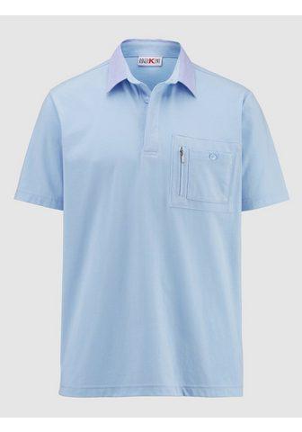 ROGER KENT Polo marškinėliai su Chambray-Kragen