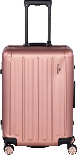 Hardware Hartschalen-Trolley »PROFILE PLUS ALU M, rosegold«, 4 Rollen
