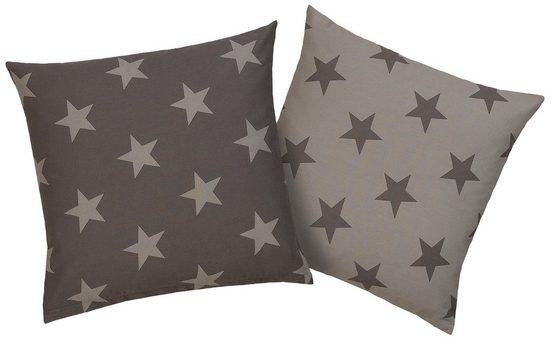 Kissenhüllen »Stella«, my home (2 Stück), mit Sternen-Muster