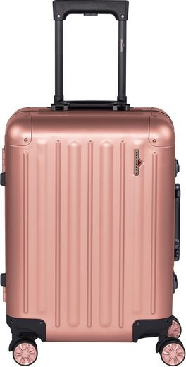 Hardware Hartschalen-Trolley »PROFILE PLUS ALU S, rosegold«, 4 Rollen